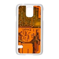Circuit Board Pattern Samsung Galaxy S5 Case (white) by BangZart