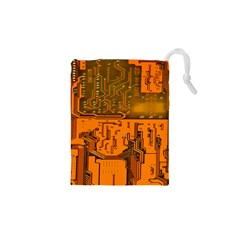 Circuit Board Pattern Drawstring Pouches (xs)  by BangZart