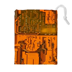 Circuit Board Pattern Drawstring Pouches (extra Large) by BangZart