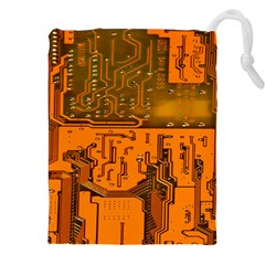 Circuit Board Pattern Drawstring Pouches (xxl) by BangZart