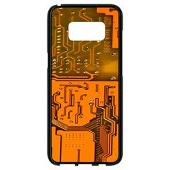 Circuit Board Pattern Samsung Galaxy S8 Black Seamless Case by BangZart