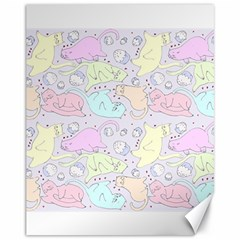 Cat Animal Pet Pattern Canvas 11  X 14