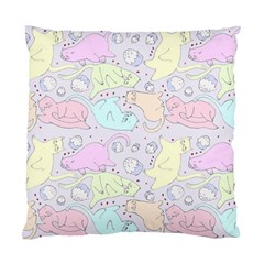 Cat Animal Pet Pattern Standard Cushion Case (one Side) by BangZart