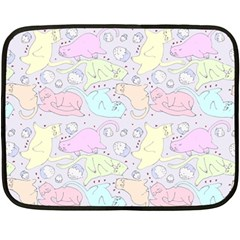 Cat Animal Pet Pattern Fleece Blanket (mini) by BangZart