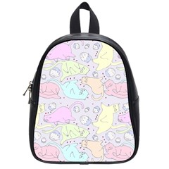 Cat Animal Pet Pattern School Bags (small)  by BangZart