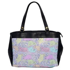 Cat Animal Pet Pattern Office Handbags by BangZart