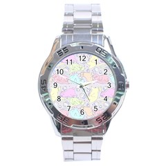 Cat Animal Pet Pattern Stainless Steel Analogue Watch by BangZart