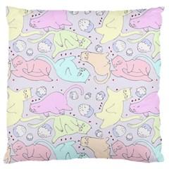 Cat Animal Pet Pattern Large Cushion Case (two Sides) by BangZart