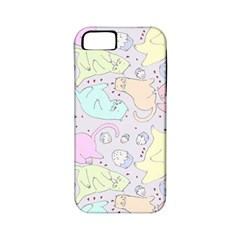 Cat Animal Pet Pattern Apple Iphone 5 Classic Hardshell Case (pc+silicone) by BangZart