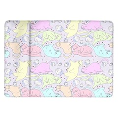 Cat Animal Pet Pattern Samsung Galaxy Tab 10 1  P7500 Flip Case