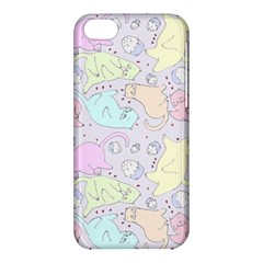 Cat Animal Pet Pattern Apple Iphone 5c Hardshell Case by BangZart