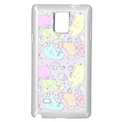 Cat Animal Pet Pattern Samsung Galaxy Note 4 Case (white)