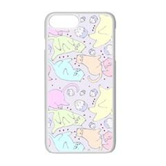 Cat Animal Pet Pattern Apple Iphone 7 Plus White Seamless Case