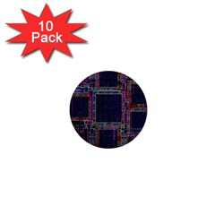 Cad Technology Circuit Board Layout Pattern 1  Mini Buttons (10 Pack)  by BangZart