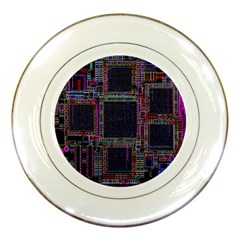 Cad Technology Circuit Board Layout Pattern Porcelain Plates