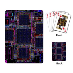 Cad Technology Circuit Board Layout Pattern Playing Card