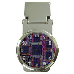 Cad Technology Circuit Board Layout Pattern Money Clip Watches by BangZart