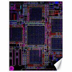Cad Technology Circuit Board Layout Pattern Canvas 18  X 24   by BangZart
