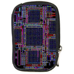 Cad Technology Circuit Board Layout Pattern Compact Camera Cases by BangZart