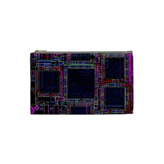 Cad Technology Circuit Board Layout Pattern Cosmetic Bag (small)  by BangZart