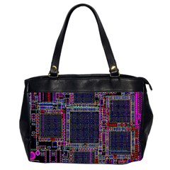 Cad Technology Circuit Board Layout Pattern Office Handbags (2 Sides)  by BangZart