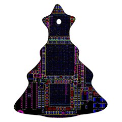 Cad Technology Circuit Board Layout Pattern Ornament (christmas Tree)  by BangZart