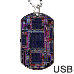 Cad Technology Circuit Board Layout Pattern Dog Tag Usb Flash (two Sides) by BangZart
