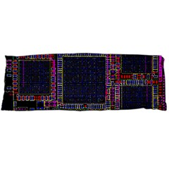 Cad Technology Circuit Board Layout Pattern Body Pillow Case Dakimakura (two Sides)