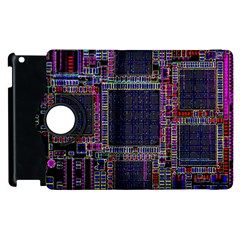 Cad Technology Circuit Board Layout Pattern Apple Ipad 3/4 Flip 360 Case by BangZart