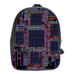 Cad Technology Circuit Board Layout Pattern School Bags (xl)  by BangZart