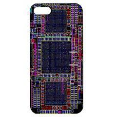 Cad Technology Circuit Board Layout Pattern Apple Iphone 5 Hardshell Case With Stand