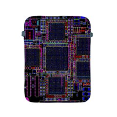 Cad Technology Circuit Board Layout Pattern Apple Ipad 2/3/4 Protective Soft Cases by BangZart