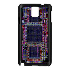 Cad Technology Circuit Board Layout Pattern Samsung Galaxy Note 3 N9005 Case (black)