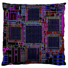 Cad Technology Circuit Board Layout Pattern Standard Flano Cushion Case (one Side)