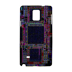 Cad Technology Circuit Board Layout Pattern Samsung Galaxy Note 4 Hardshell Case by BangZart