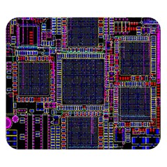 Cad Technology Circuit Board Layout Pattern Double Sided Flano Blanket (small)