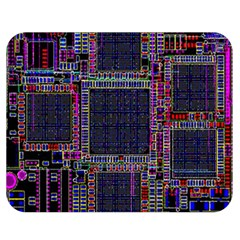 Cad Technology Circuit Board Layout Pattern Double Sided Flano Blanket (medium)  by BangZart