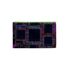 Cad Technology Circuit Board Layout Pattern Cosmetic Bag (xs)