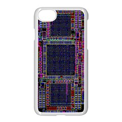 Cad Technology Circuit Board Layout Pattern Apple Iphone 7 Seamless Case (white)