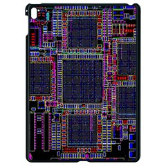 Cad Technology Circuit Board Layout Pattern Apple Ipad Pro 9 7   Black Seamless Case by BangZart