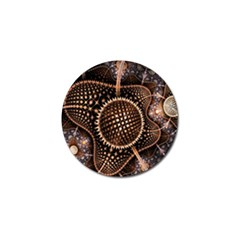 Brown Fractal Balls And Circles Golf Ball Marker by BangZart