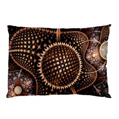 Brown Fractal Balls And Circles Pillow Case