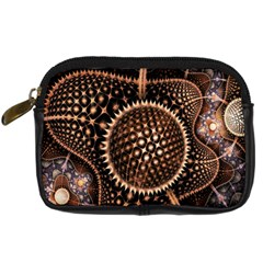 Brown Fractal Balls And Circles Digital Camera Cases by BangZart