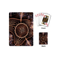 Brown Fractal Balls And Circles Playing Cards (mini)