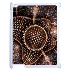 Brown Fractal Balls And Circles Apple Ipad 2 Case (white) by BangZart
