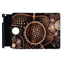 Brown Fractal Balls And Circles Apple Ipad 2 Flip 360 Case by BangZart