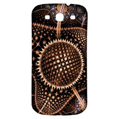 Brown Fractal Balls And Circles Samsung Galaxy S3 S Iii Classic Hardshell Back Case by BangZart