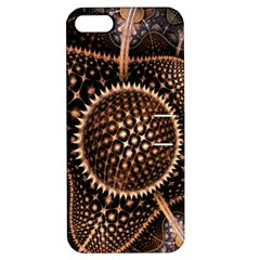 Brown Fractal Balls And Circles Apple Iphone 5 Hardshell Case With Stand