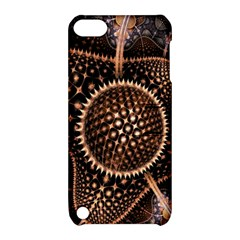 Brown Fractal Balls And Circles Apple Ipod Touch 5 Hardshell Case With Stand by BangZart