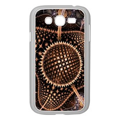 Brown Fractal Balls And Circles Samsung Galaxy Grand Duos I9082 Case (white)